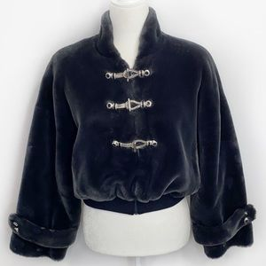 ST.Jonh By Marie Gray Faux Fur Jacket